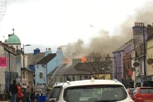 A photograph from the scene of the fire in Donaghadee. (Photo courtesy of Dylan McKee/Mandi Stout)