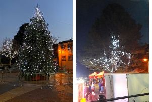 Newry Mourne and Down District Council were the subject of derision across the province, for what some described as the Worst Christmas Tree in Northern Ireland. However after widespread anger in the town it has now erected a more festive looking display. (Photo Kilkeel Development Association).