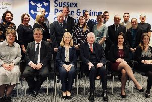 A group picture of all partners involved in the Sussex Police scheme