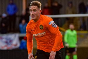 Jerry Thompson as a player for Carrick Rangers.