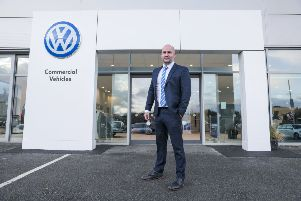Karl McQuaid, who will be the Business Development Manager at all three Donnelly Volkswagen Van Centres, Enniskillen, Londonderry and Dungannon