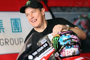 John McGuinness pictured at the Macau Grand Prix in November. McGuinness will ride for the Quattro Plant Bournemouth Kawasaki team at this year's North West 200 and Isle of Man TT.