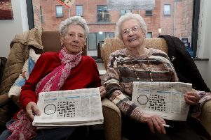 Emily Campbell and Isabel Rea love doing crosswords