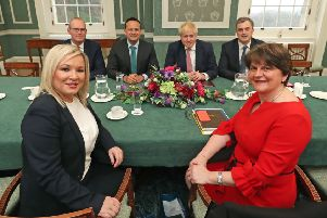 Arlene Foster and Michelle O'Neill meeting with Boris Johnson and Leo Varadkar on Monday