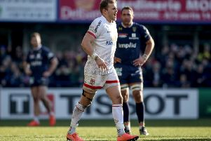 Ulster's Will Addison went off injured against Clermont at the weekend.