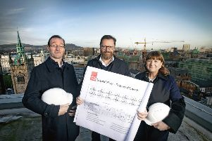 Arie Van Limpt, Director of Operations, is pictured with Gordon McElroy, MD & Anne Marie Kelly, Director at MKB Law
