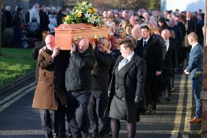 Funeral of murder victim Glenn Quinn at Joymount Presbyterian Church in Carrickfergus. ''Picture by Jonathan Porter/PressEye
