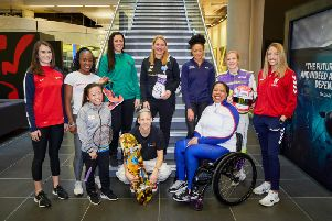 Picture, from left to right: Georgina Roberts  Shooting, Marilyn Okoro  Athletics, Rachel Choong - Para Badminton, Siobhan Prior  Basketball, Lucy Adams  skateboard, Stacey Copeland  Boxer, Alice Dearing  Swimming, Alice Powell  Moto racing, Caitlin Beevers - Rugby League, Vanessa Wallace - Para Shot Put