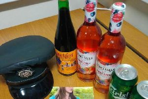 Seizure made by PSNI from underage drinkers in Dungannon