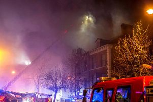 Firefighters fight three-storey blaze in student area of Belfast   traffic chaos ongoing