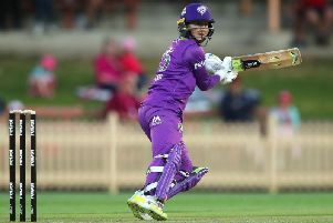 Fran Wilson during the Women's Big Bash League match between the Hobart Hurricanes and the Sydney Sixers at North Sydney Oval (Photo by Cameron Spencer/Getty Images)
