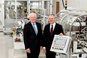 Pictured are Gabriel Bradley, Managing Director, Naturelle with Kevin Holland, CEO, Invest NI
