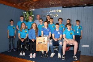 East Antrim Boat Club sailing team received the Top Club award at the 2019 NI Youth Regatta.