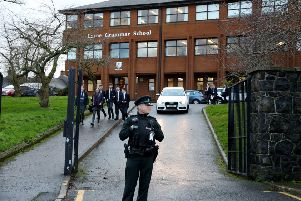 Police attended Larne Grammar School following the incident earlier this month