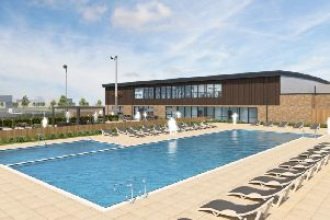 An artist's impression of the planned outdoor pool.