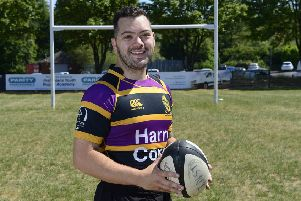 Curtis Barrett, who underwent surgery to remove a brain tumour eight months ago, is hoping to make a return to rugby with his beloved Instonians RFC. Picture by Arthur Allison