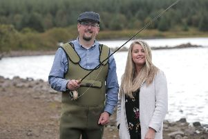 Barry Reid from Larne has turned his passion for fishing and the local countryside into his very own business, Trout Tours NI, with the support of the Go For It Programme, in association with Mid & East Antrim Borough Council.''Pictured with Barry is Laura McCourt, Business Advisor with LEDCOM Larne who provided Laura with expert advice and help with developing a business plan in order to help turn his business idea into a reality. The project is part funded by Invest Northern Ireland and the European Regional Development Fund under the Investment for Growth & Jobs Northern Ireland (2014-2020) Programme.