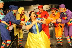 Snow White feels the effects of the poisonous apple PHOTO: Martin Fagan