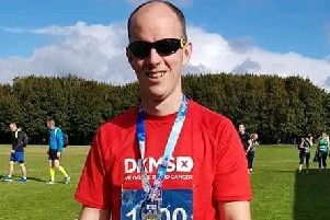 Scott completed the Belfast City Half Marathon raising over �1,000 for the charity.