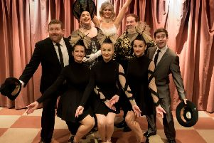 The Producers back row L to R Alex Broadfield, Robert Bristow, Jessica Carter, Edward Smith and Harvey Jones; front row L to R s Elsyia Contanzo, Hannah Ogden and Amelia Glendinning