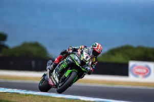 Kawasaki's Jonathan Rea during day two of the Phillip Island World Superbike test in Australia.