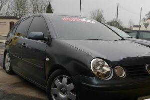 Police seized the car in Ballyclare.