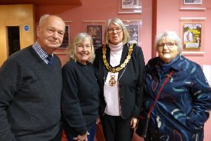 Grants for The Players Theatre, Thame -  Cllr Dodds, Mayor Ann Midwinter, Pat Shepherd, Cllr Matelot Green