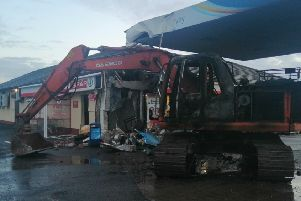 Detectives are investigating after theives used a digger to steal an ATM machine from a filling station on the Dromore Road in Irvinestown at around 4.05am on Sunday 24th March, 2019.
