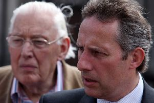 Ian Paisley with his father in 2009