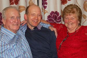Steven with his parents Roy and Dorothy.