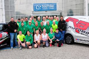 Co Antrim Harriers pictured with Richard Boyd.