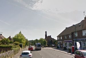 The fight happened in America Lane in Haywards Heath. Picture: Google Street View