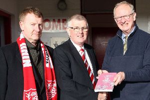 Dr Robson Davison (right), author of a book detailing the history of Ballyclare Comrades, will take part in the centenary service.  Picture by Freddie Parkinson.