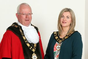 Mayor of Antrim and Newtownabbey, Ald John Smyth and Deputy Mayor, Cllr Anne Marie Logue.