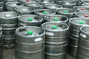 Kegs worth an estimated retail value of �900,000 have been recovered.