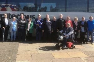 Members of Carrickfergus Royal British Legion who took part in the outing.