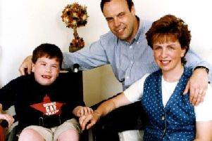 Nigel Dodds MP, Diane Dodds MEP and their son Andrew, who had spina bifida and passed away in 1998.