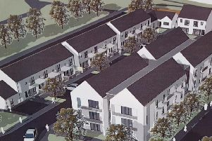 Artist's impression of the proposed Clanmil development at Joymount in Carrickfergus. INCT 37-725-CON