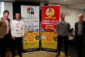 The launch of the Banbury United Lottery