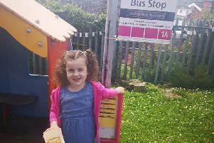 Sophie from Glengormley njoying the Mad Hatters Tea Party at Ashgrove Nursery School which raised approximately �1400.