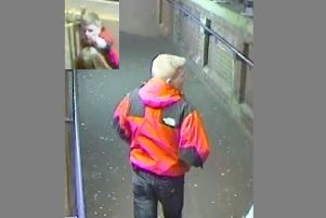 British Transport Police have released two CCTV images of a man they wish to speak to in connection with a robbery and assault at St Leonards Warrior Square station. SUS-190718-144207001