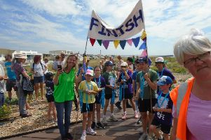 Everyone taking part in the Shoreham Beach Primary School Race for Life 2019 received a medal