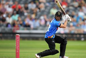 Laurie Evans was one of the Sussex batting stars who saw the Sharks to victory at Uxbridge / Picture: Getty Images