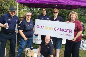 Cancer United members at last year's Outrun Cancer event