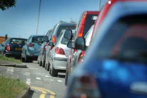 The A264 is suffering long queues due to the M23 works