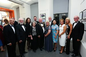 Mukesh Sharma, Jerome Mullen, Polish Consul, Elizabeth Kennedy-Trudeau, US Consul General, Mrs Mullen, Colin McCabrey, Mayor, Ald John Smyth, Mayoress, Carol Smyth, Ken Orr, Brazilian Consul, Madame Zhang Meifang, Chinese Consul General, Jacqui Dixon, Chief Executive, Majella McAlister and Rev Campbell Dixon MBE.