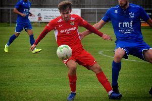 Hat-trick man Zak Munton took his goal tally for the season to six from 10 starts EMN-191014-092540002
