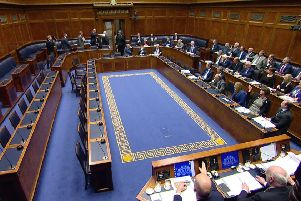 SDLP members leaving the chamber today prior to the departure of the DUP and then the UUP