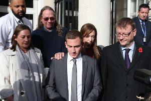 Valerie Graves' family read out a statement outside Lewes Crown Court after Cristian Sabou was jailed for life