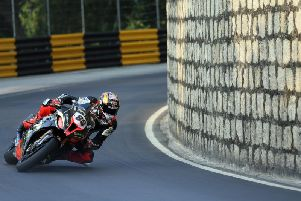 Peter Hickman sealed pole position for the Macau Grand Prix on the MGM by Bathams BMW. Picture: Stephen Davison/Pacemaker Press.